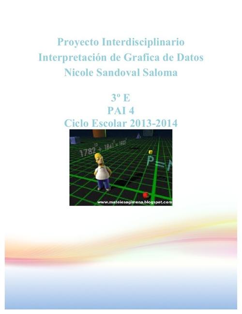 Proyecto Interdisciplinario: Interpretación de Gráfica de Datos