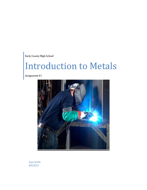 Introduction to Metals Assignment #1
