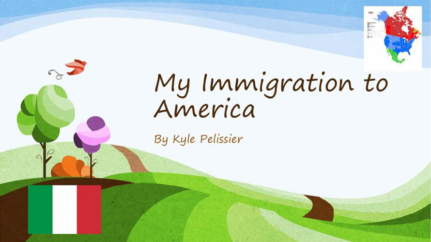 My Immigration to America Childrens Book PPT