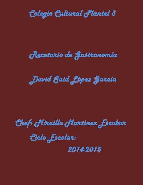 Recetario David PDF