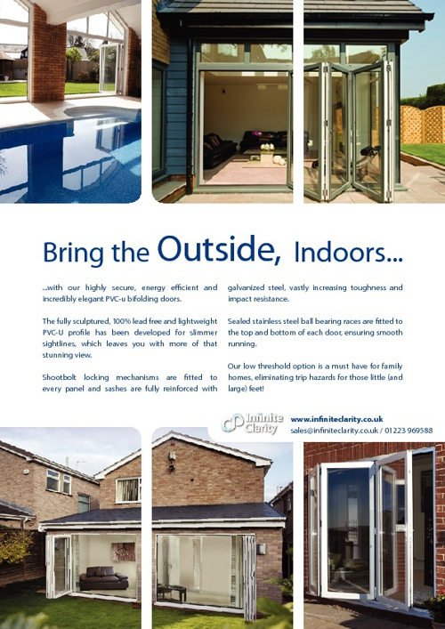 Infinite Clarity PVC-U Bifold Door Brochure