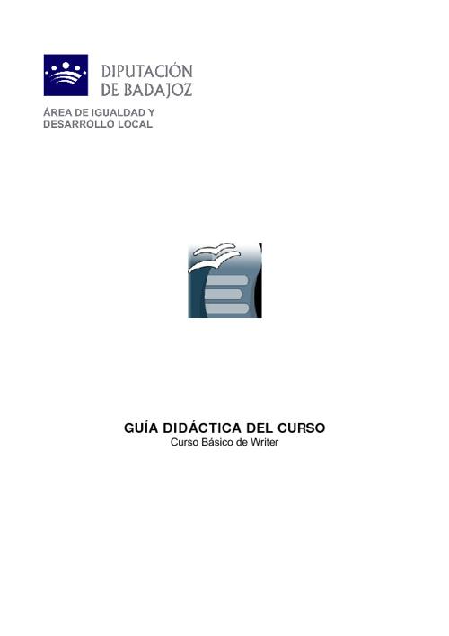 Guía didáctica Writer 2012