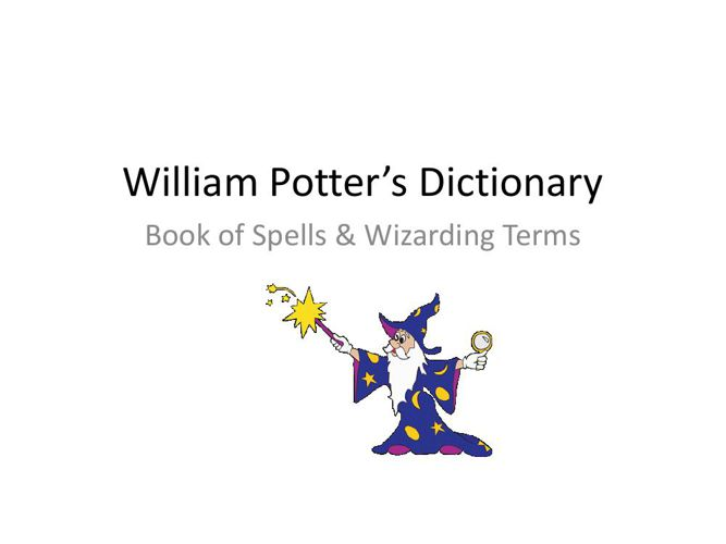 Will Potter Vocabulary All Words pdf