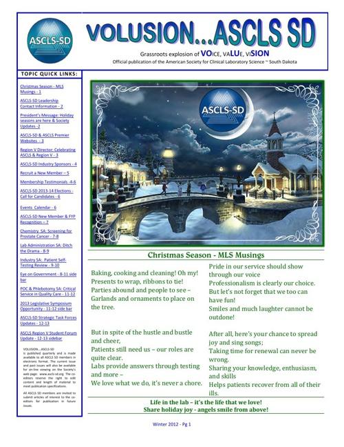 VOLUSION....ASCLS-SD Winter 2012