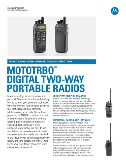 Motorola MotoTrbo Document Library