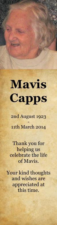 Bookmark for Mavis Capps