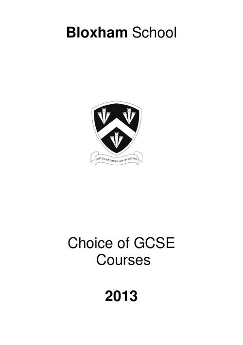 GCSE Choices