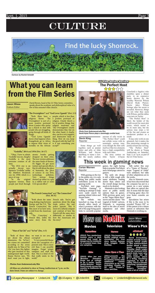 Sept. 1 issue of the Legacy