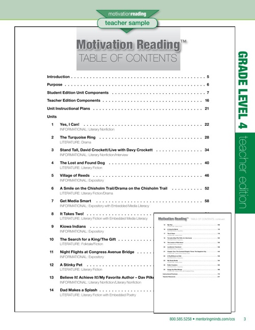 CCS Motivation Reading Level 4 TE