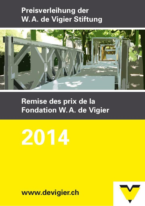 Preisverleihung 2014 der W. A. de Vigier Stiftung