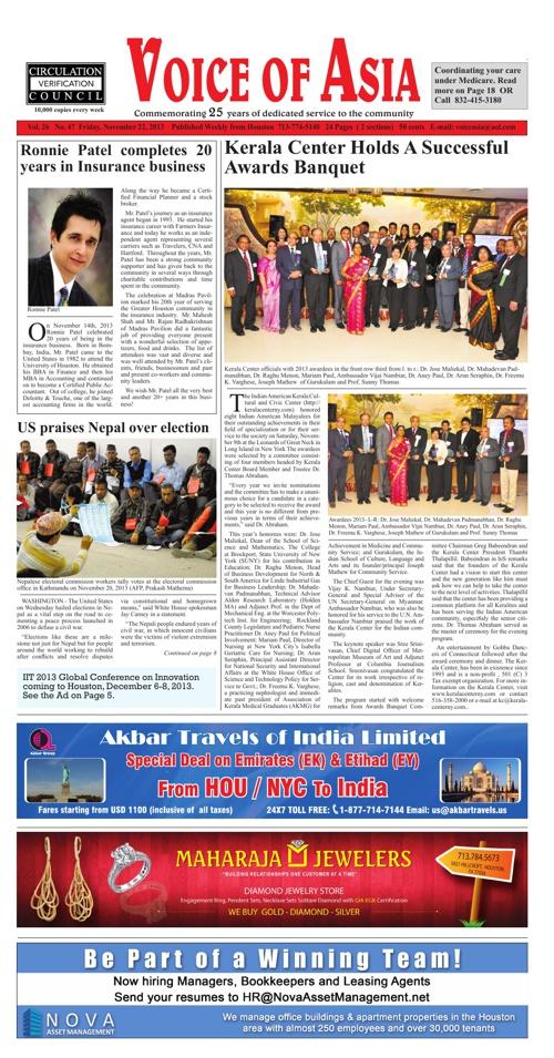 Voice of Asia November 22, 2013