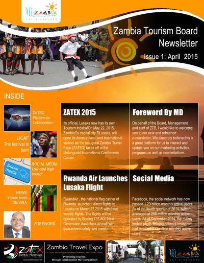 Zambia Tourism Board Newsletter