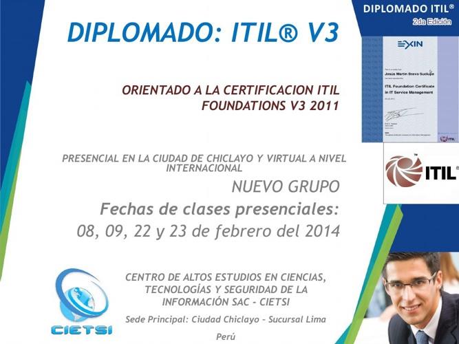Diplomado ITIL - FEBRERO 2014