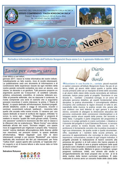 educa news n°1 I.C. Borgoncini Duca