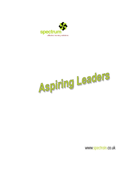 Aspiring Leaders Flip Book