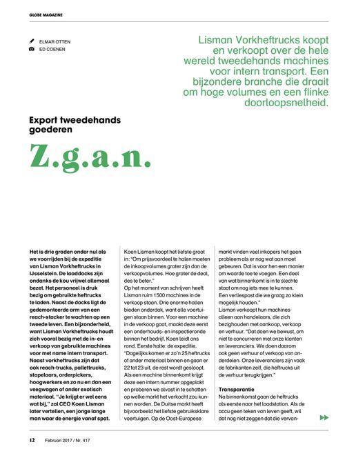 Interview met Koen Lisman - Globe Magazine van de Fenedex