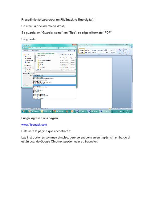 Procedimiento para crear un libro digital