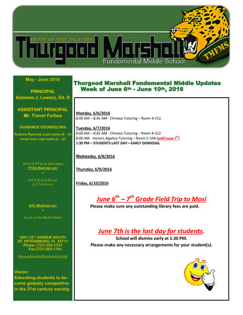Thurgood Marshall Fundamental Middle School