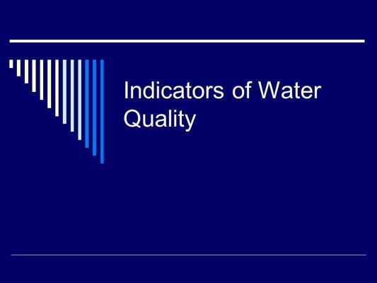 AP Environmental Science- Alternative Assignment- 8.2 Water Qual
