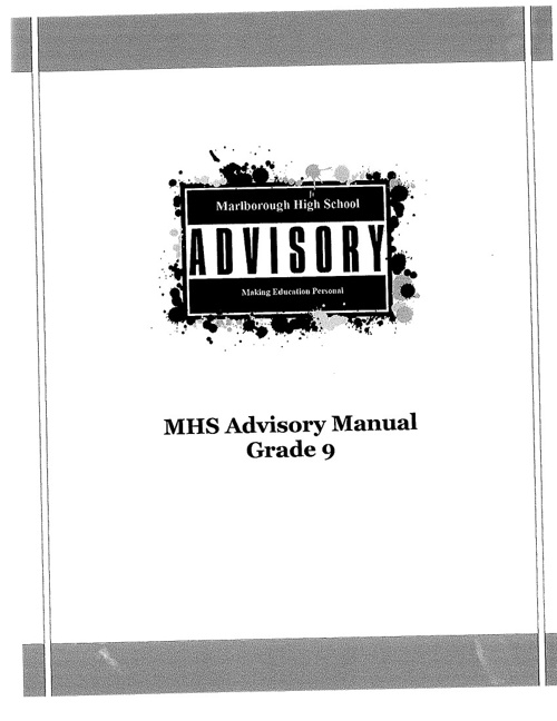 Marlborough High School Grade 9 Advisory Manual
