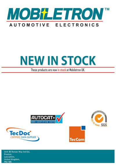 New In Stock July 2015