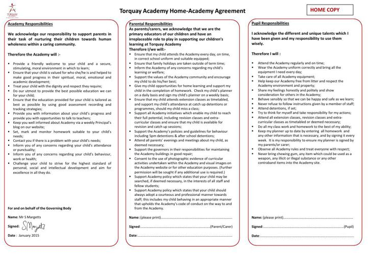 Home Academy Agreement Jan 2015