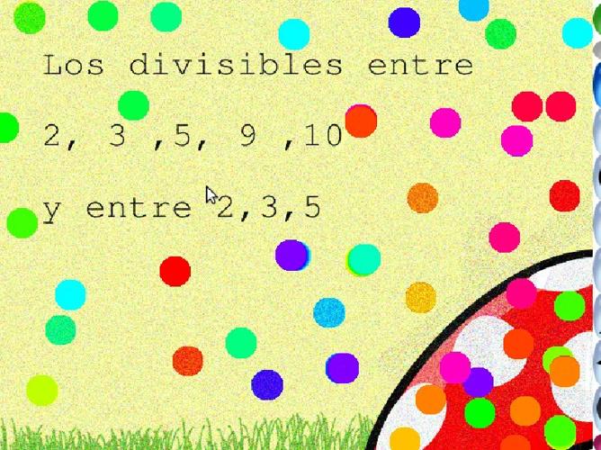 la divisible  1,2 ,3  ,5,9,10  y 2,3,5