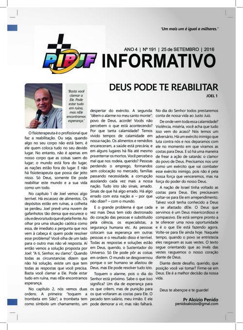 INFORMATIVO PIBJF 25.09.2016