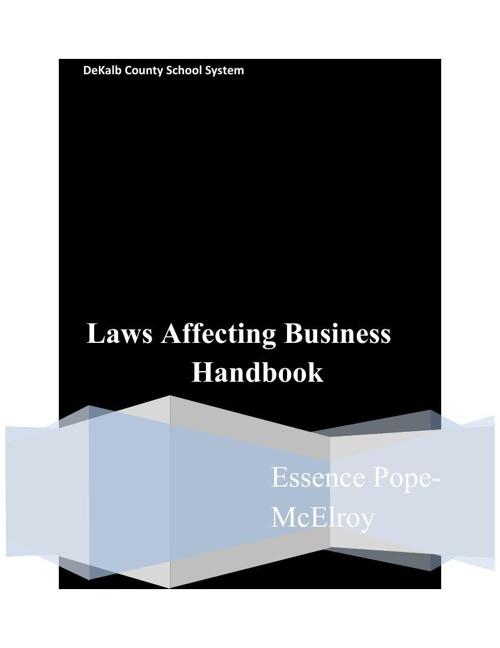 Laws affecting business handbook