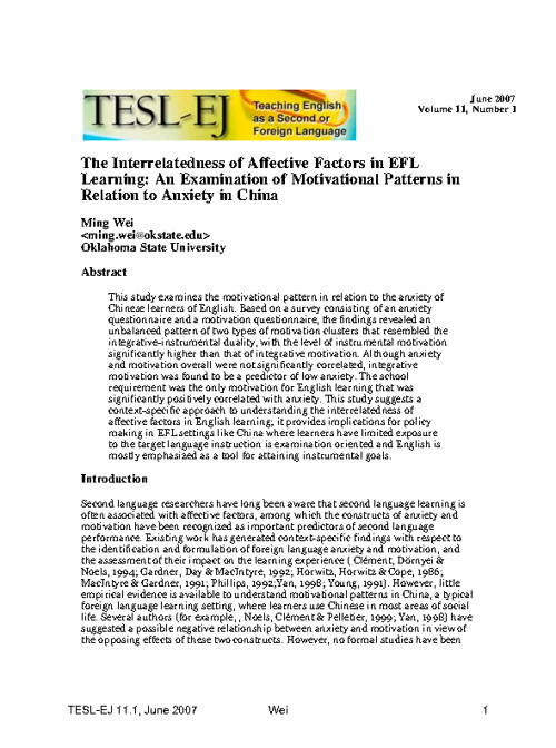 Samples of Journals - Methodology