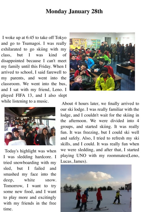 Kang Hyun's Amazing Ski Trip Journal