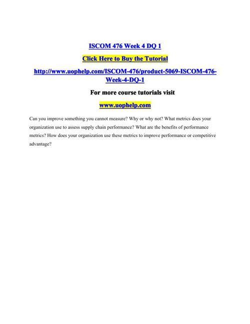 ISCOM 476 Week 4 DQ 1