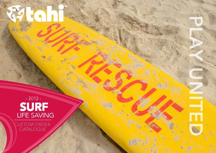 Tahi Surf Lifesaving Catalogue