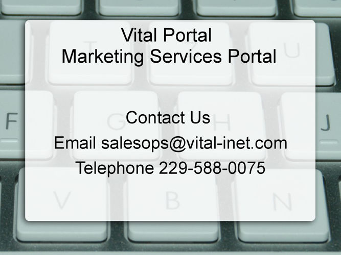 Vital Marketing Services Demo Site Features
