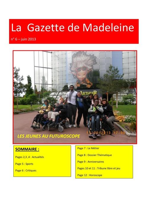 Gazette de Madeleine - juin 2013