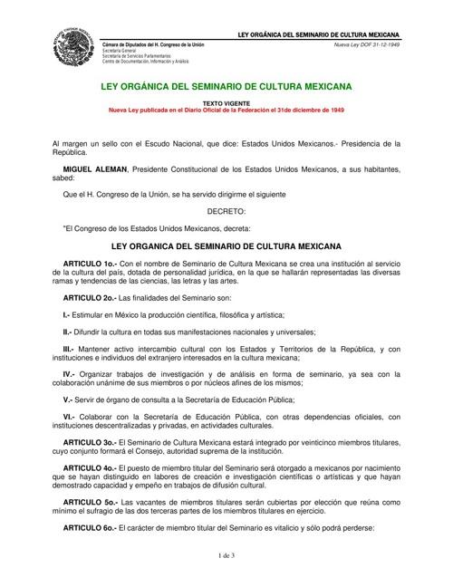 LEY_ORGANICA_DEL_SEMINARIO_DE_CULTURA_MEXICANA