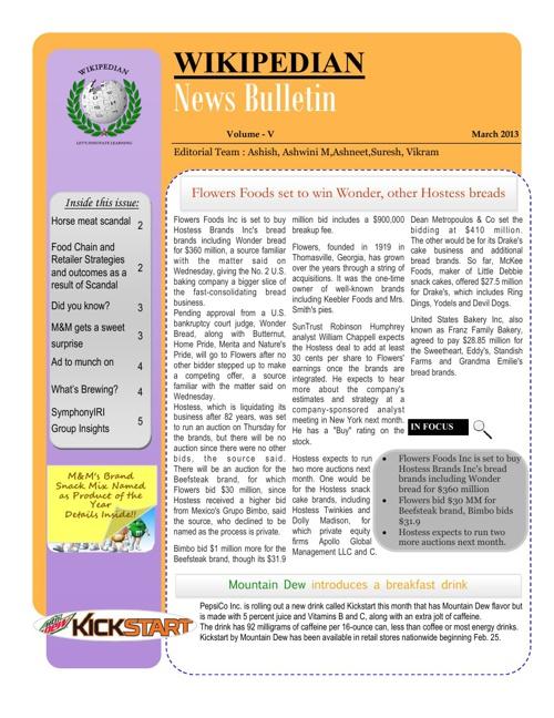 WIKIPEDIAN News Bulletin March 2013