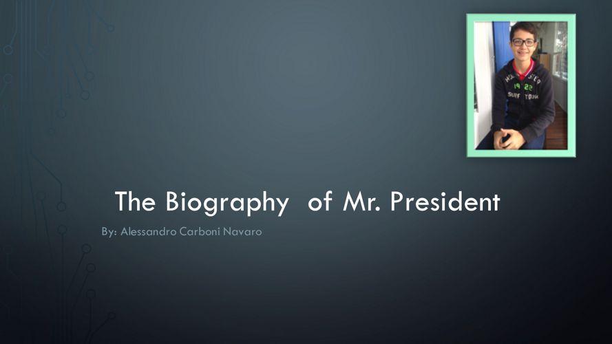 Alessandro Carboni - Mr. President