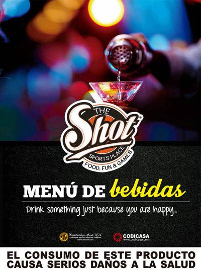 The Shot menu de bebidas