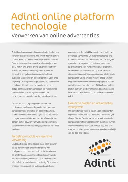 ADINTI Online platform technologie