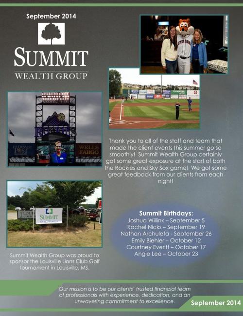 2014 SWG September Newsletter