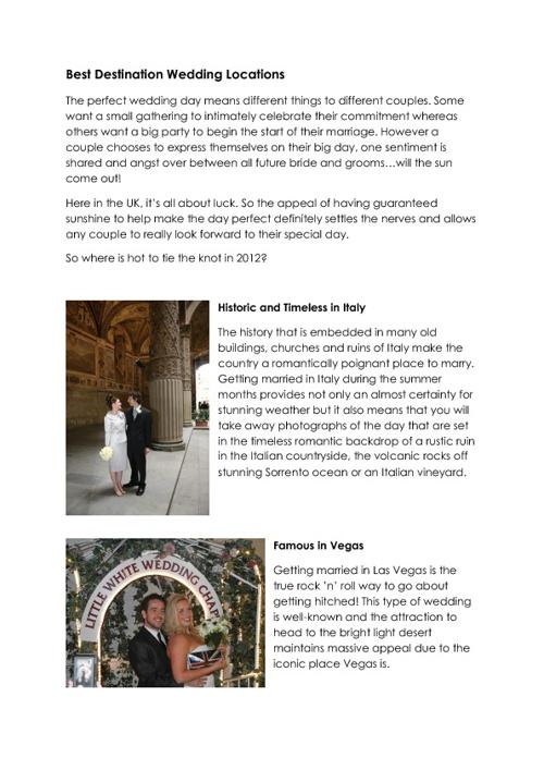 Best Wedding Locations
