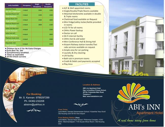Welcome to ....          Abi's Inn