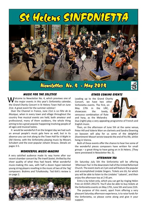 Sinfonietta Newsletter 4