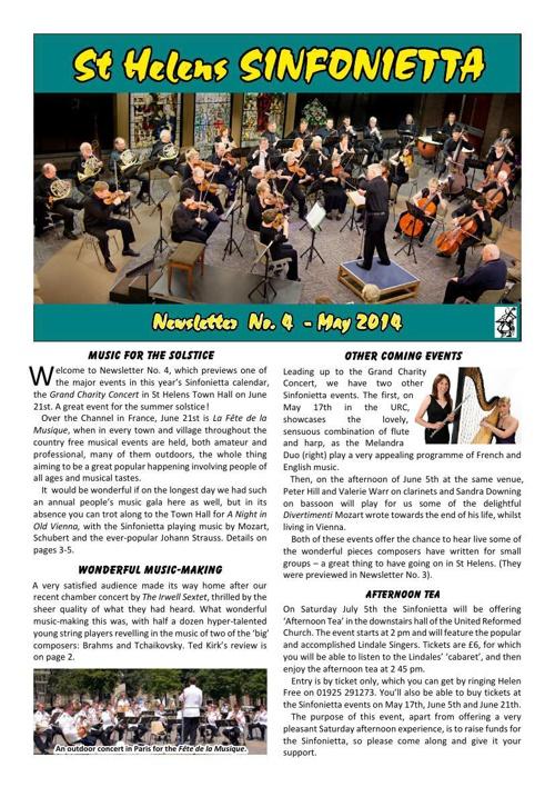 Sinfonietta Newsletter 4