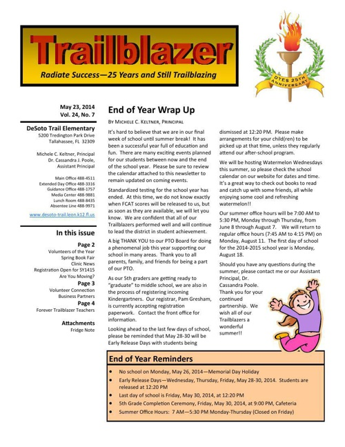 EOY Trailblazer Newsletter