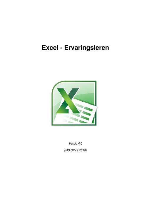"""Excel reader : """"Ervaringsleren"""" versie 4.0"""