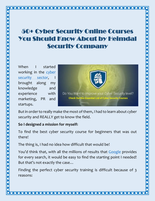 50+ Cyber Security Online Courses You Should Know About