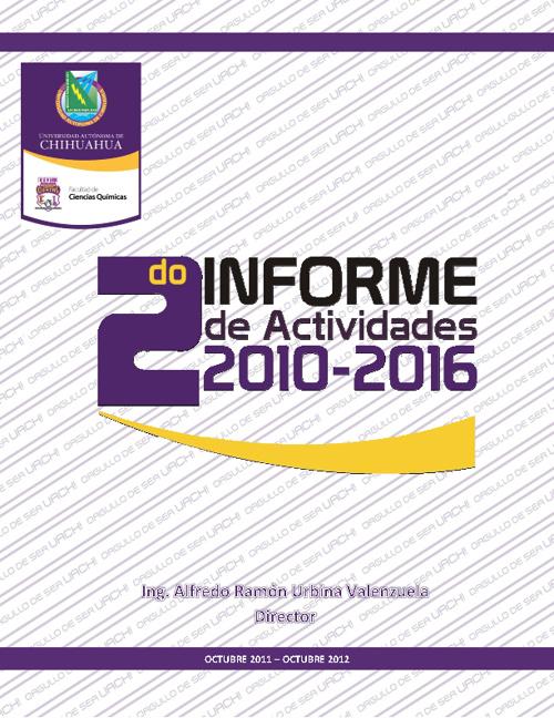 II Informe de Actividades 2010 - 2016