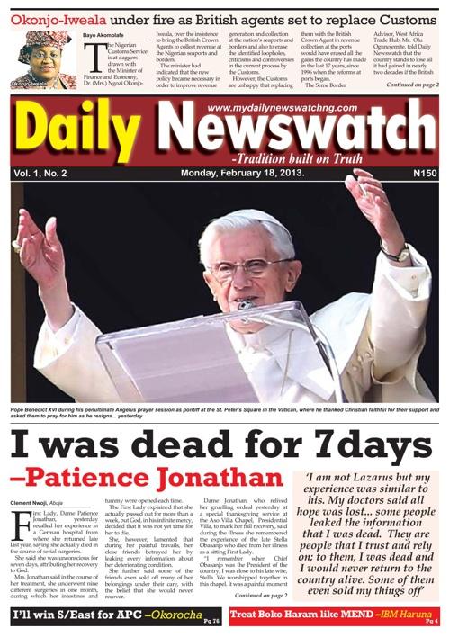 Daily Newswatch Monday